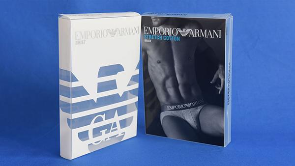 阿玛尼合作万利服饰透明包装胶盒案例
