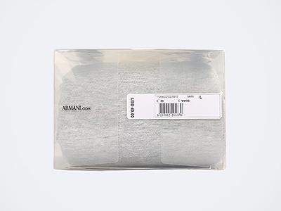 阿玛尼服饰包装胶盒细节图